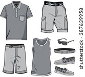 men's clothes  shirt templates... | Shutterstock .eps vector #387639958