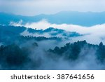 Fog Step Between Mountain.