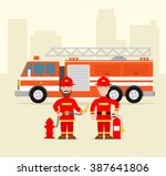 fireman firefighter in uniform...
