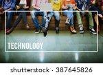 technology tech digital... | Shutterstock . vector #387645826