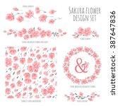 set of vector design elements ... | Shutterstock .eps vector #387647836