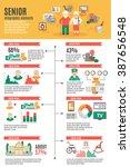 infographic poster of senior...   Shutterstock .eps vector #387656548