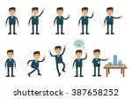 set of businessman characters... | Shutterstock .eps vector #387658252