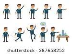 set of businessman characters...   Shutterstock .eps vector #387658252