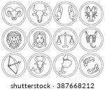 vector illustration of  12... | Shutterstock .eps vector #387668212