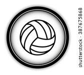 volleyball ball   vector icon ... | Shutterstock .eps vector #387675868