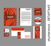 corporate identity template... | Shutterstock .eps vector #387697645