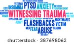 witnessing trauma word cloud on ...   Shutterstock .eps vector #387698062