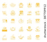 food and market icons set... | Shutterstock .eps vector #387709912