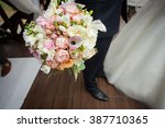 happy handsome groom with... | Shutterstock . vector #387710365