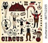 big top circus stars set | Shutterstock .eps vector #387712255