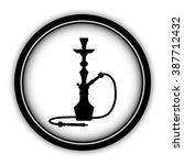 silhouette of a hookah   vector ... | Shutterstock .eps vector #387712432