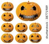 halloween pumpkin vector smiley | Shutterstock .eps vector #38771989
