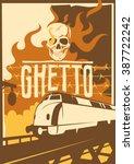 Retro Ghetto Poster. Vector...