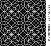 black and white mosaic seamless   Shutterstock .eps vector #387727798