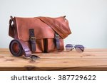 men's accessories with brown... | Shutterstock . vector #387729622