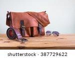 men's accessories with brown... | Shutterstock . vector #387729622