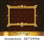 thai art frame border | Shutterstock .eps vector #387729946