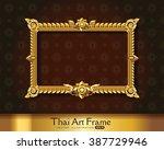 thai art frame border | Shutterstock .eps vector #387729946