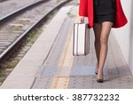 Girl Traveling And Standing...