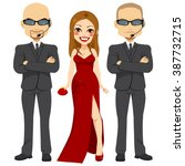 professional bodyguards... | Shutterstock .eps vector #387732715