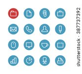office vector icon set  ... | Shutterstock .eps vector #387737392