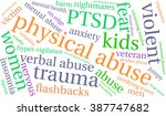 physical abuse word cloud on a... | Shutterstock .eps vector #387747682