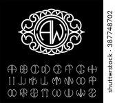 stylish  graceful monogram made ... | Shutterstock .eps vector #387748702