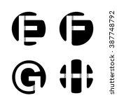 capital letters e  f  g  h.... | Shutterstock .eps vector #387748792