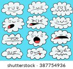 cartoon clouds with different... | Shutterstock .eps vector #387754936