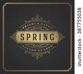 spring vector typographic...   Shutterstock .eps vector #387755038