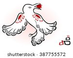 abstract image of white raven...