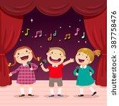 vector illustration of children ... | Shutterstock .eps vector #387758476