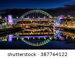 Tyne Bridge Night Reflections