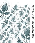 embroidery seamless flower... | Shutterstock .eps vector #38776966