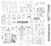 wardrobe. big hand drawn... | Shutterstock .eps vector #387772048