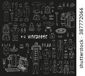 wardrobe. big hand drawn... | Shutterstock .eps vector #387772066