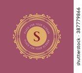the letter s. flourishes...   Shutterstock .eps vector #387779866