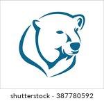 polar bear head abstract | Shutterstock .eps vector #387780592