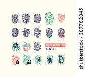 set of fingerprint vector flat... | Shutterstock .eps vector #387782845