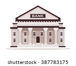 bank building. vector... | Shutterstock .eps vector #387783175