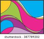colors wave   Shutterstock .eps vector #387789202