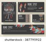 set of boho ornament...   Shutterstock .eps vector #387795922