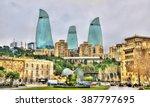 View Of The City Centre Of Baku ...