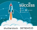 success and concept background... | Shutterstock .eps vector #387804535