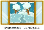 Cartoon Scene With Weather In...