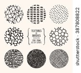 hand drawn textures and brushes.... | Shutterstock .eps vector #387808822
