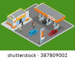 Gas Station 3d Isometric. Gas...