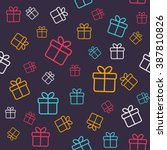 seamless pattern with colorful... | Shutterstock .eps vector #387810826