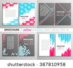 set of templates  flyers... | Shutterstock .eps vector #387810958